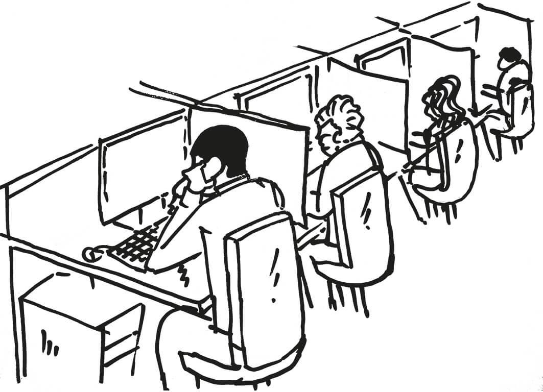 Antreiber im Büro